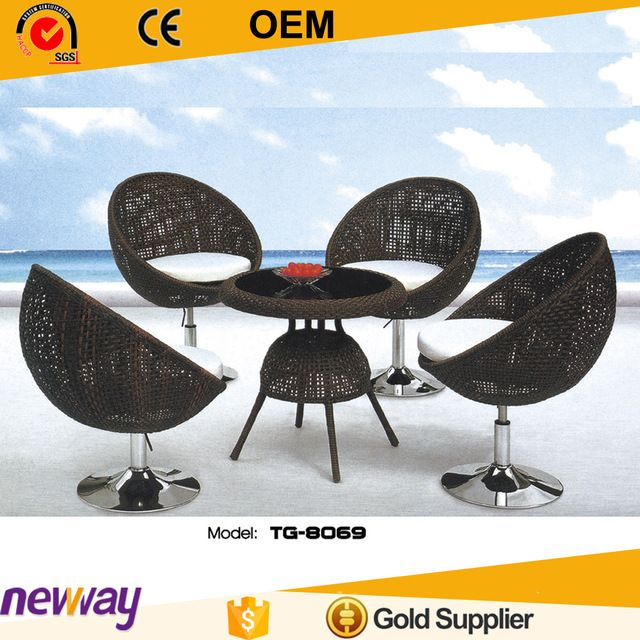 Awesome Source Modern Unique Design Comfortable Dining Set Table And Four Chair  Rattan Outdoor Furniture On M