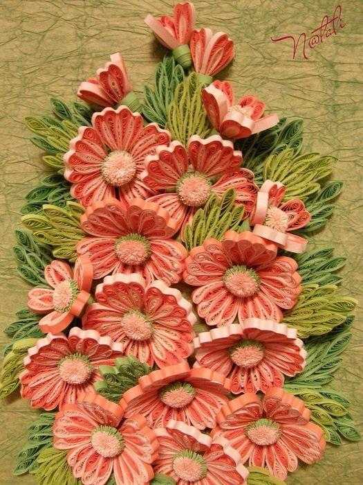 Quilling arte: Flores