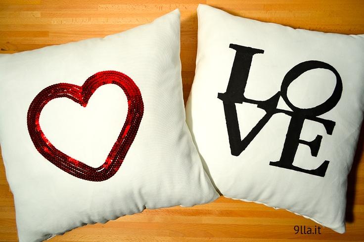 DIY LOVE and Heart Pillows