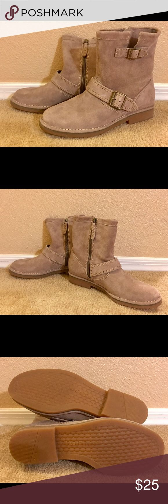 Hush Puppies Suede Ankle Boots Hush Puppies — Taupe Aydin Catelyn Suede Ankle Boot, Women's Size 7.  Practically brand new - only worn once for a Halloween costume. Hush Puppies Shoes Ankle Boots & Booties