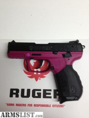 ..Ruger SR-22 !  I have this gun maybe I should have it painted raspberry like this!