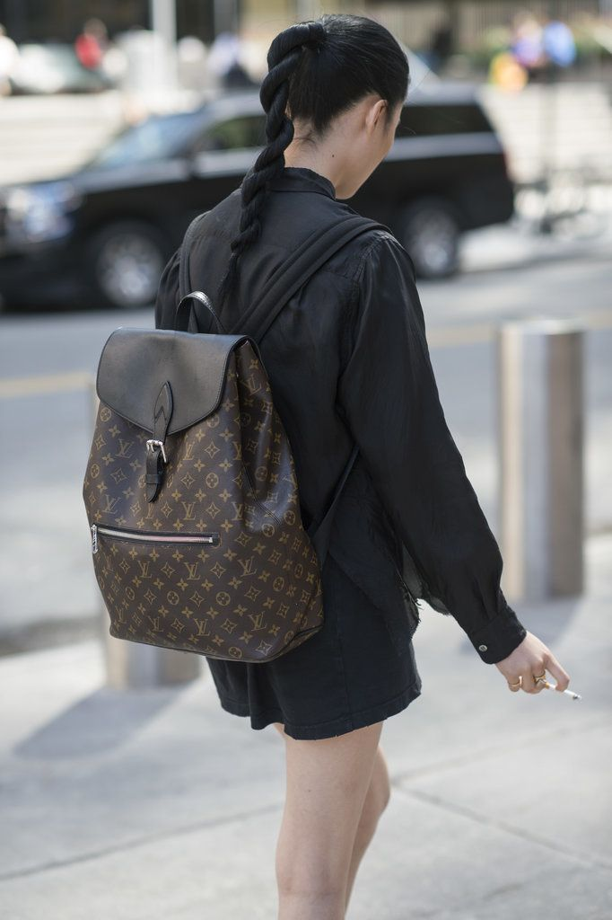 A Louis Vuitton backpack