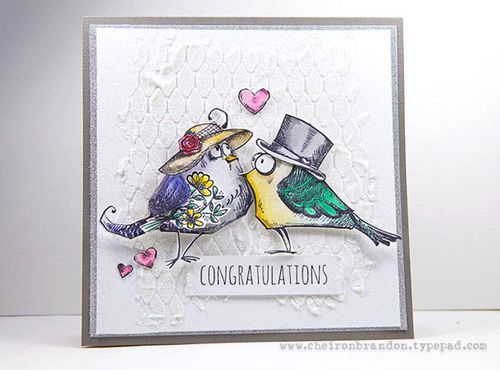 Love this card by Cheiron for the Simon Says Stamp Monday challenge (Punch/Die Cut)
