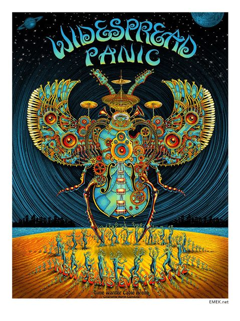 Widespread Panic | 12/31/12 | Time Waner Cable Arena | Charlotte, NC | Community Post: 29 Of The Most Awesome Concert Posters You Will Ever See
