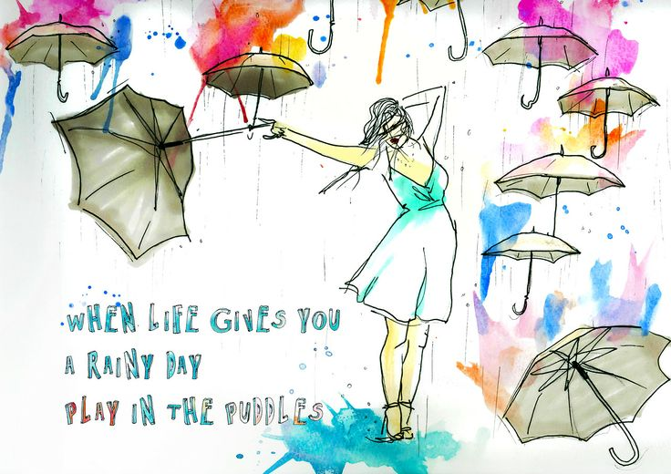 Here at Revolution360, we like to see things from a different perspective. #quote #doodle #rain #perspective #umbrella