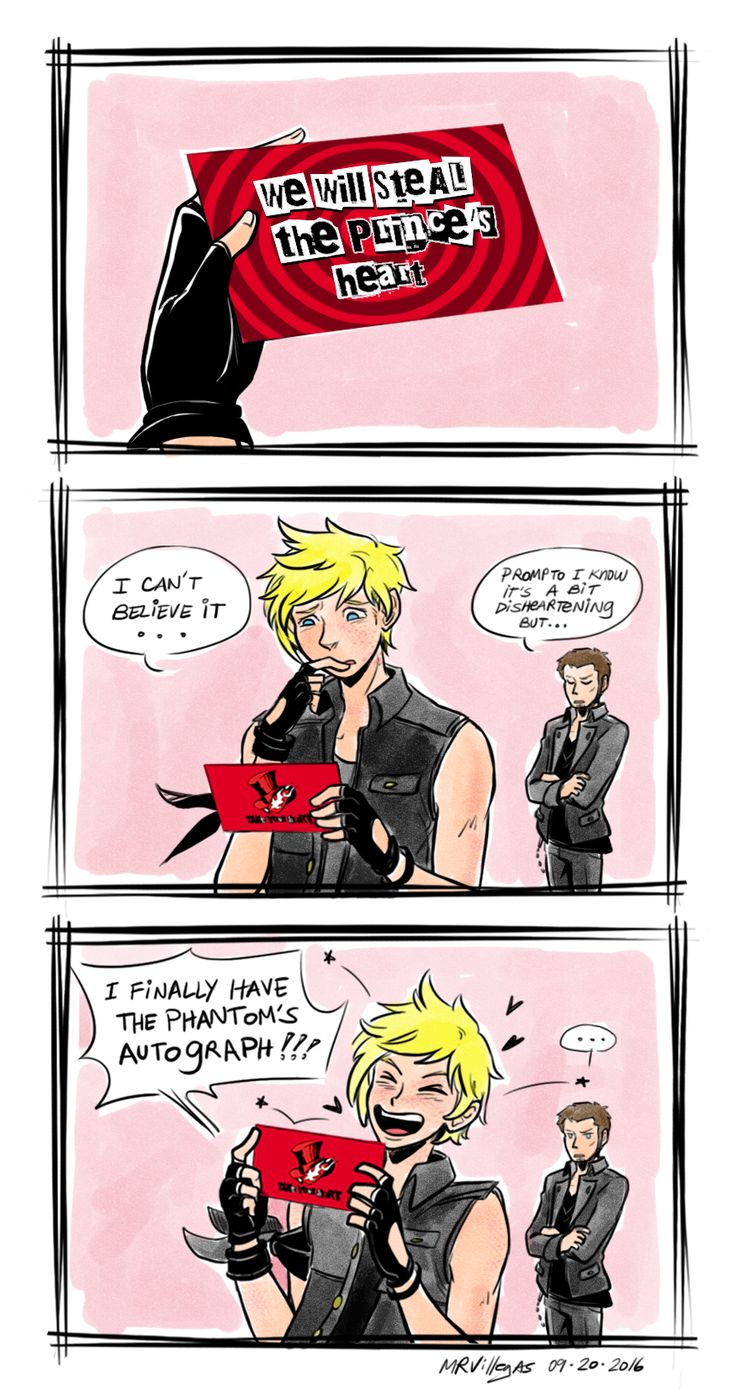 (this was in my drafts since September and just a WIP! so I went and colored it! In a strange coincidence Prompto and Cor's English VAs will be in Persona 5) So Robbie Daymond voices our puppy detective and Matt Mercer will voice the foxy katana...