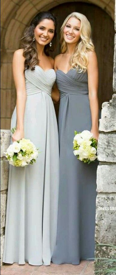 Vestido en tonos gris para damas o fiestas