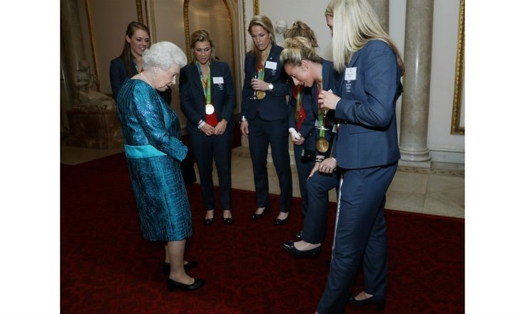 The Queen poked fun at Team GB hockey player Susannah Townsend.
