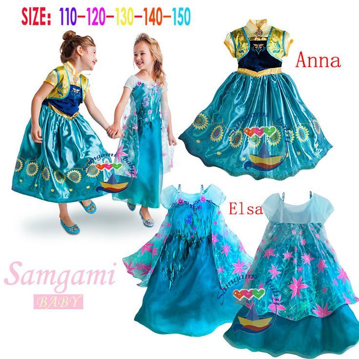 $41.61 (Buy here: https://alitems.com/g/1e8d114494ebda23ff8b16525dc3e8/?i=5&ulp=https%3A%2F%2Fwww.aliexpress.com%2Fitem%2FFree-shipping-Wholesale-2015-baby-girl-clothes-elsa-dress-Elsa-Anna-Movie-Cosplay-Costume-Kids-Girls%2F32311294917.html ) Free shipping Wholesale 2015 baby girl clothes elsa dress Elsa Anna Movie Cosplay Costume Kids Girls Dresses Elsa Princess Dress for just $41.61