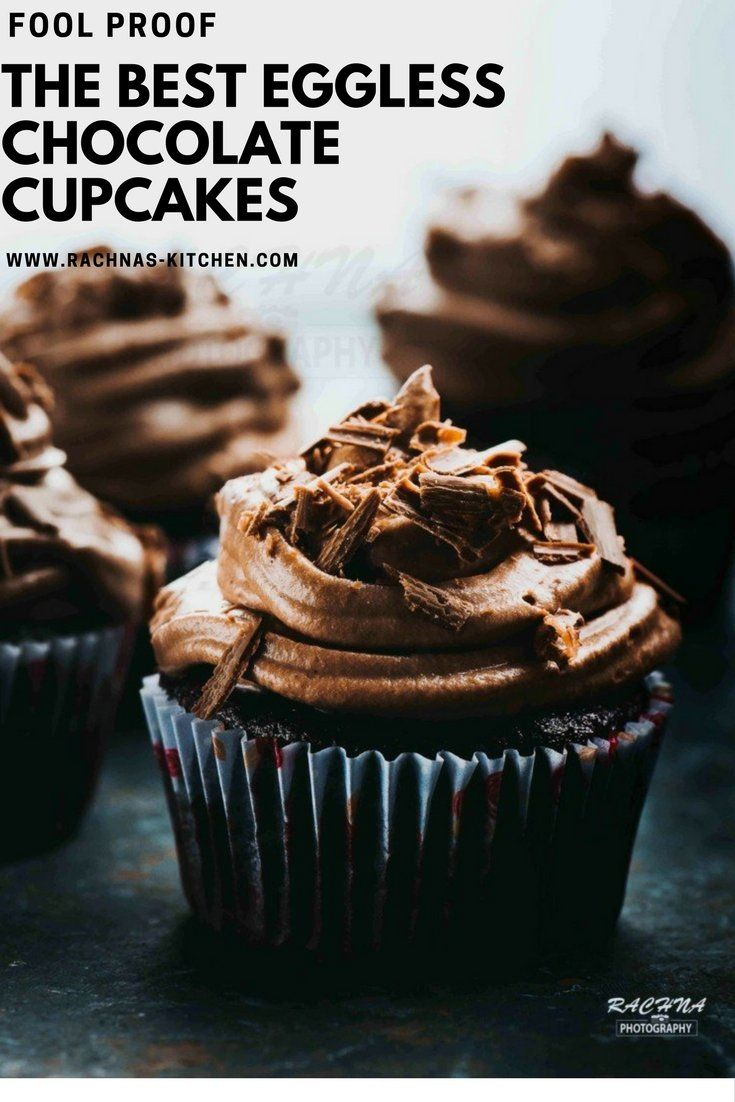 Eggless Chocolate cupcakes with whipped cream cheese frosting