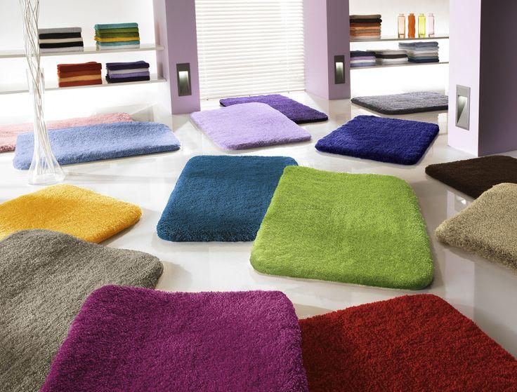 Melierter #Badteppich #Relax aus dichtem, flauschigen Flor für warme & trockene Füße im #Badezimmer #Wohnidee