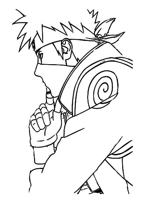 The Kakashi Hatake Coloring Pages Color Home Decor Decals