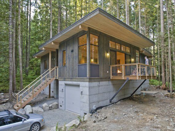 Off Grid Cabin, Contemporary Cabin, Summer Cabins, Prefab Houses, Prefab  Cabins, Container Homes, Small Houses, Cabin Kits, Cabin Ideas