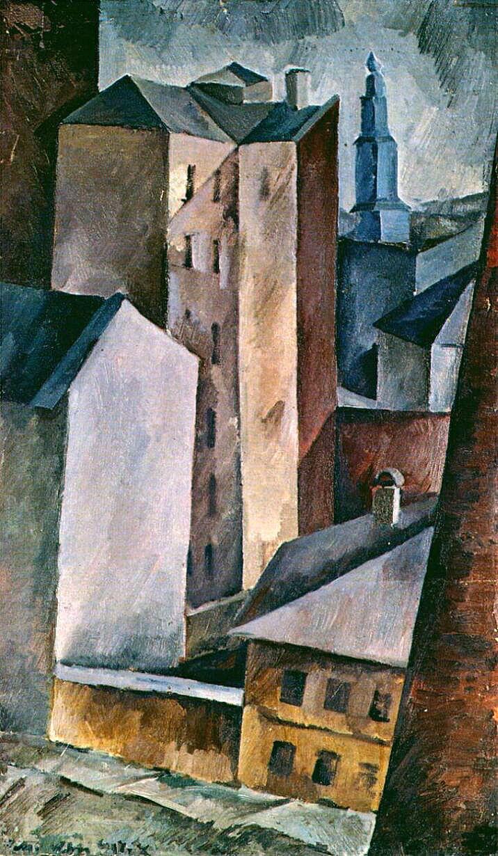 Александр Осмёркин «Дома и города» 1917