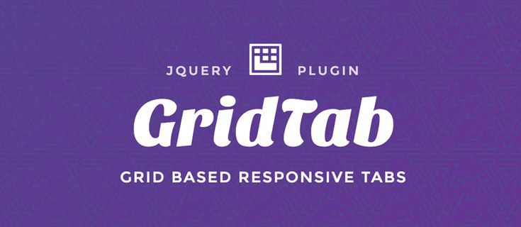 GridTab – A jQuery plugin to create grid based responsive tabs