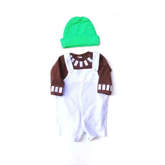 Oompa Loompa Baby Costume Kids Willy Wonka by TheWishingElephant
