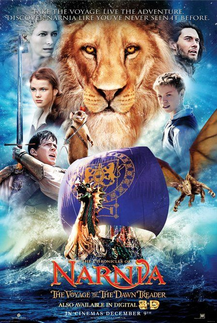 The Chronicles of Narnia: The Voyage of the Dawn Treader (2010)  Lucy and Edmund Pevensie return to Narnia with their cousin Eustace where they meet up with Prince Caspian for a trip across the sea aboard the royal ship The Dawn Treader. Along the way they encounter dragons, dwarves, merfolk, and a band of lost warriors before reaching the edge of the world.