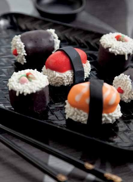 Sushi Cake Pops from Crazy for Cake Pops via Cut Out & Keep