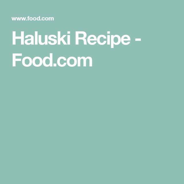 Haluski Recipe - Food.com