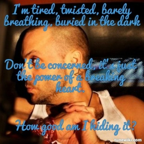 "My Favorite Lyrics From This Song -- #LyricArt for ""The Worry List"" by Blue October"