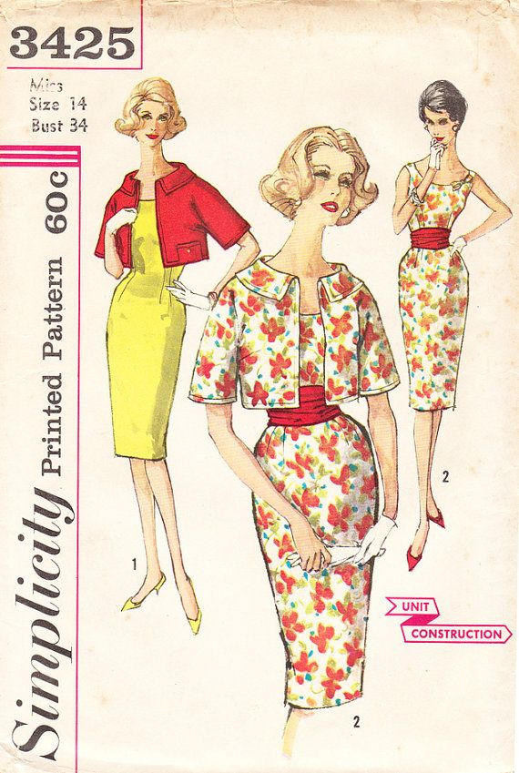 sewing patterns vintage sewing patterns 60s dresses sheath dresses ...