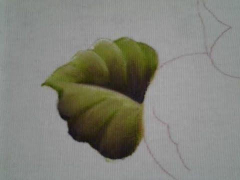 Como pintar folha - Pêras, laranjas e folhas - Aula 1
