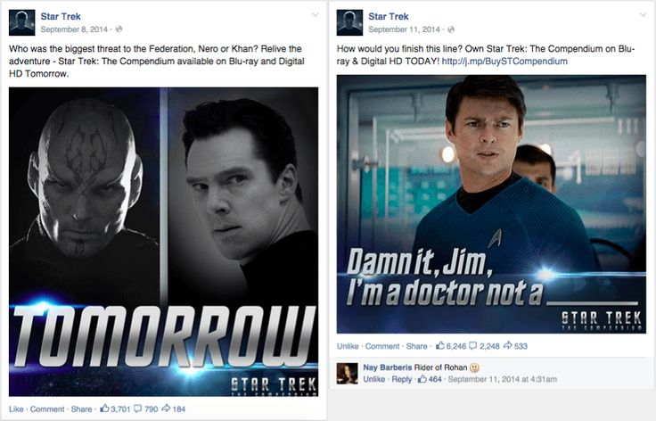 Movies on Facebook: Creative ways to promote DVD releases: https://www.truesocialmetrics.com/blog/movies-on-facebook