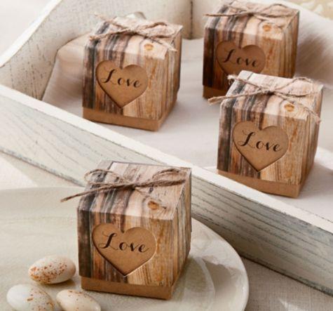 Rustic Tree Wedding Favor Boxes 24ct - Party City Canada