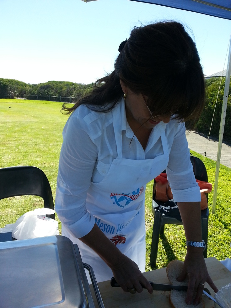 Preparing sandwiches for the golf players with a delicious sangria