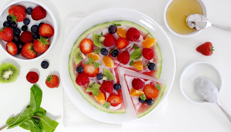 FRUIT PIZZA VAN WATERMELOEN