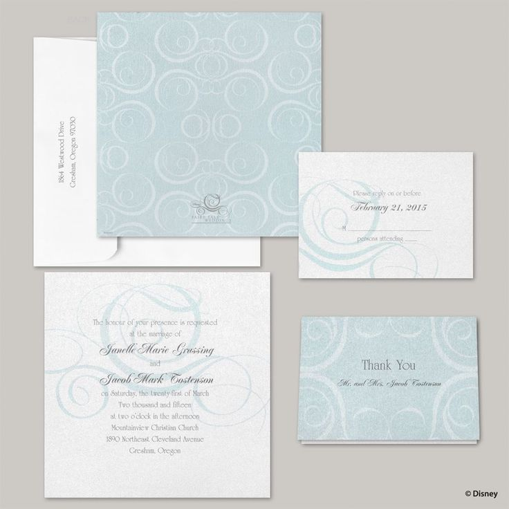 happily ever after wedding invitations%0A Disney  Fairy Tale Fantasy Invitation