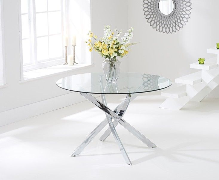 Buy The Denver 120cm Glass Dining Table At Oak Furniture Superstore
