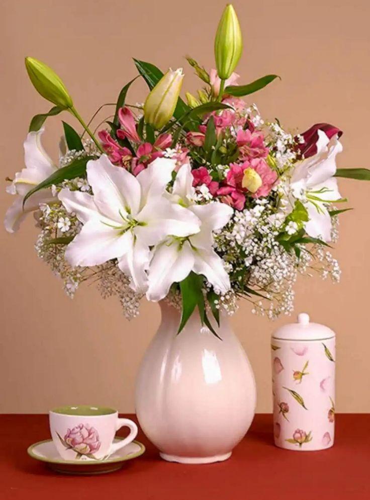 Картинки, картинки с добрым утром цветы лилии