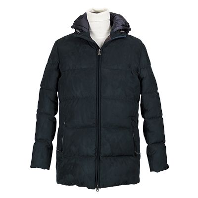 Giaccone uomo in microfibra imbottita e trapuntato - Blu - Invernale. € 160,70. #hallofbrands #hob #jackets #coats #giubbotti #giaccone #invernale #wintry #winter