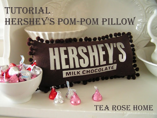 "pom-pow pillow tutorial from Tea Rose Home. Made using a t-shirt. Great way to recycle a beloved t-shirt. Maybe use this to salvage my pink ""Things are bad send chocolate"" t-shirt that has a hole in it"