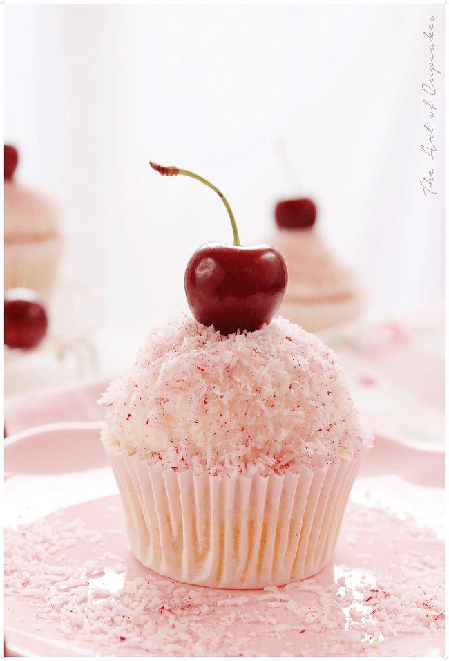 Cupcakes de cereza y coco. 2-1