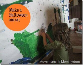 make a Halloween mural
