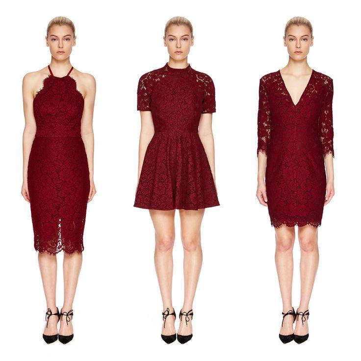 Lover - Ruby Dresses 1. Oasis halter 2. Oasis mini 3. Oasis pencil mini