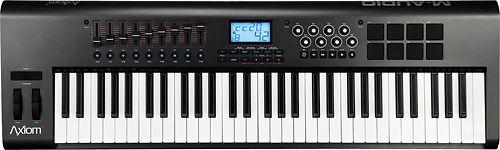 Hal Leonard - Axiom Portable Keyboard with 61 Piano-Size Semi-Weighted Keys - Black