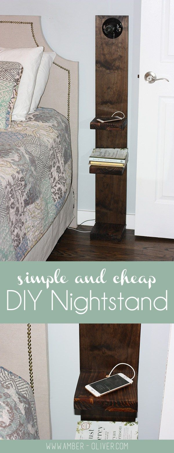 Simple and Cheap DIY Nightstand. Make your own nightstand in an afternoon for less than $20