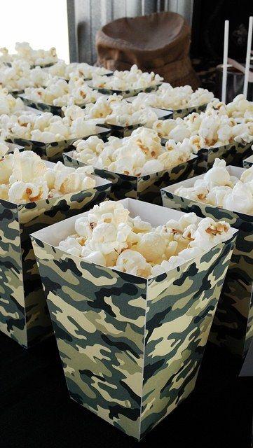 Camouflage Popcorn Boxes