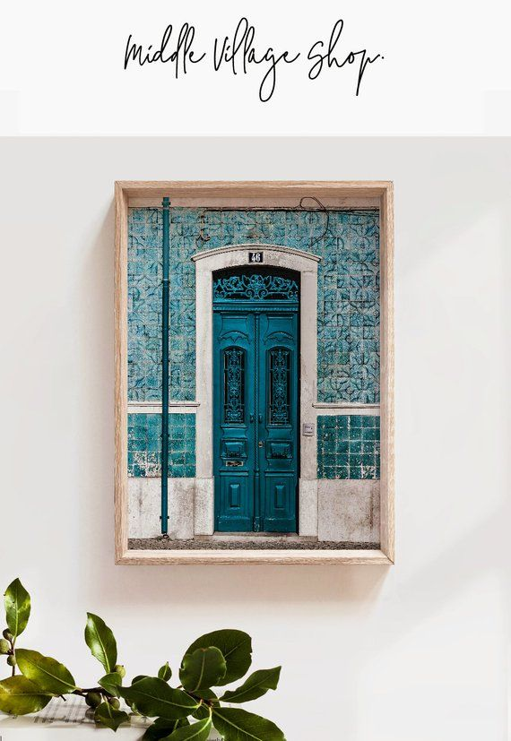 Lisbon Print Portugal Poster Portuguese Tiles Blue Door Print Lisbon Wall Art Downloadable Prints Lisbon City Photography Prints Portugal Bs Huge Wall Art Portuguese Tiles Prints