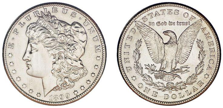 1 SILVER US DOLLAR NEW ORLEANS /1 DÓLAR MORGAN NUEVA ORLEANS. 1899 O. AU/SC-.