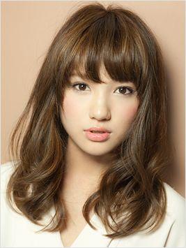medium length hair & bangs