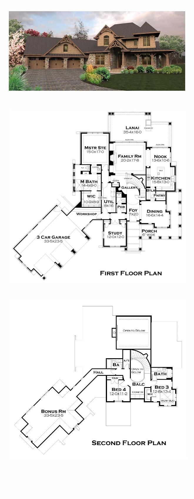 Furthermore medieval manor house on floor plans with central - Tuscan House Plan 65880 Total Living Area 3069 Sq Ft 4