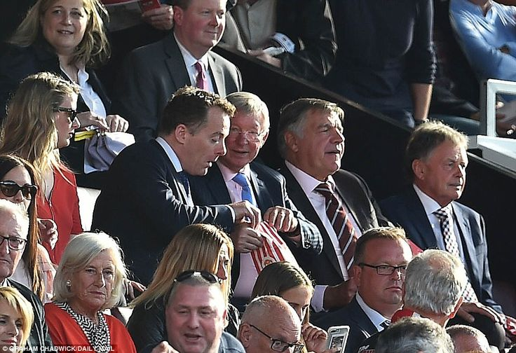 Sir Alex Ferguson and former England manager Sam Allardyce were among those in attendance at Old Trafford on Saturday