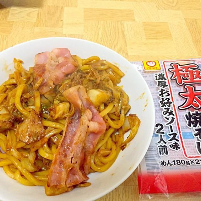 極太麺にキムチ+ - 48件のもぐもぐ - 神奈川県産キャベツたっぷりキムチ焼きそば by Tarou  Masayuki