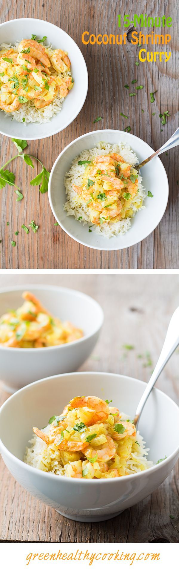 A 15-Minute Coconut Shrimp Curry recipe that competes with any fast food restaurant food in terms of fast preparation and absolutely wins in terms of taste.