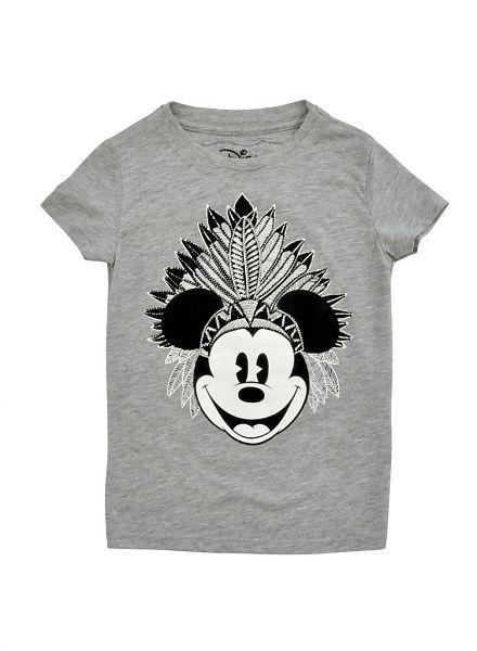 Relaunch Relaunch grijs shirt met Indiaan Mickey
