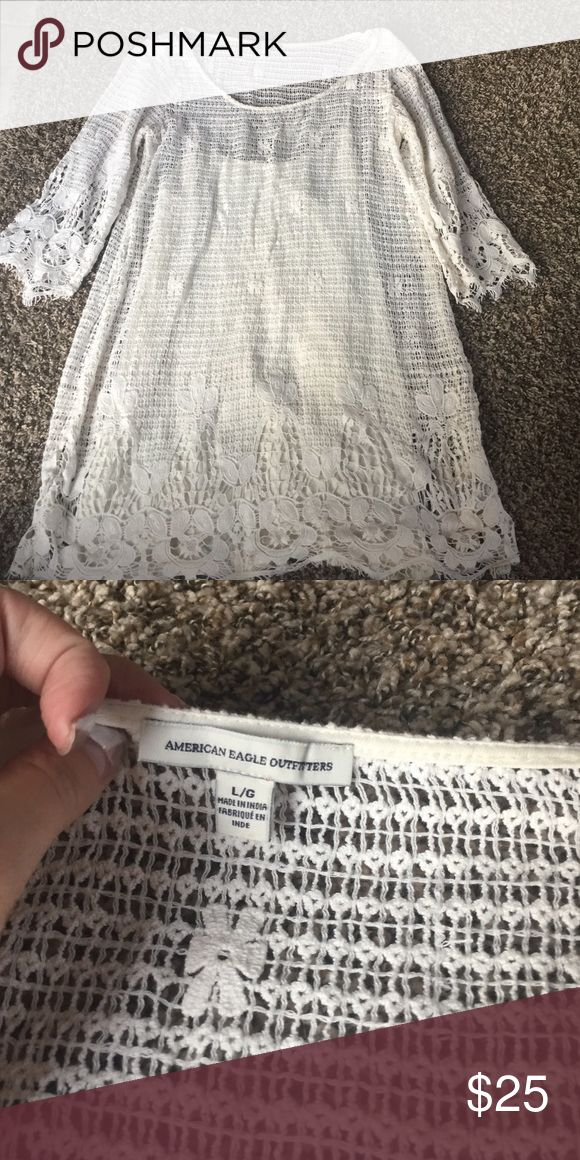 Selling this Crotched Dress American Eagle on Poshmark! My username is: shelbskwiat. #shopmycloset #poshmark #fashion #shopping #style #forsale #American Eagle Outfitters #Dresses & Skirts